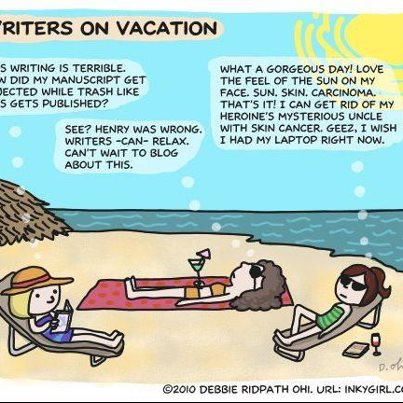 Of course writers' brains can relax